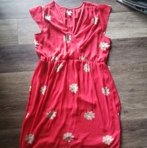 Old Navy Red Floral Dress